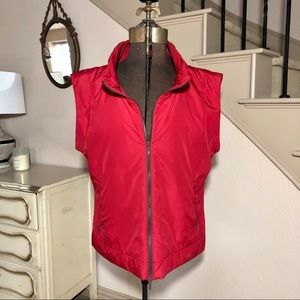 Lafayette 148 New York Red Vest Zip Up Winter